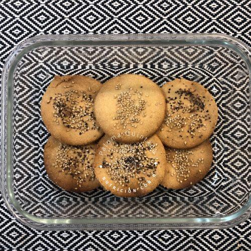 receta de galletas de almendra y sésamo saladas